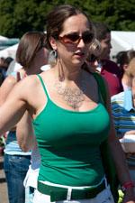 Chubby girl in tank top boobs opinion you